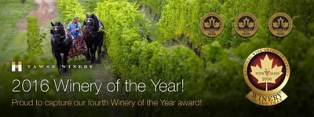 Winery of the Year Banner (CNW Group/Tawse Winery)