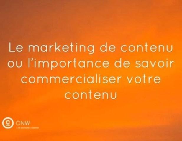 En matière de marketing de contenu, la distribution et la syndication du contenu sont tout aussi importantes pour son efficacité que sa création. (Groupe CNW/Groupe CNW Ltée)