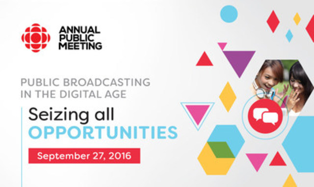 2016 Annual Public Meeting (CNW Group/CBC/Radio-Canada)