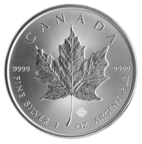La pièce d'investissement Feuille d'érable en argent 2014 de la Monnaie royale canadienne, dotée de caractéristiques de sécurité visuelle évoluées. (Groupe CNW/Monnaie royale canadienne)
