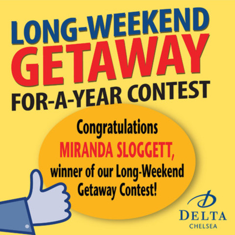 Facebook Contest Winner Announcement (CNW Group/Delta Chelsea Hotel)