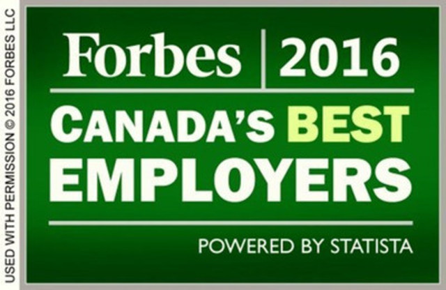 Forbes 2016 Canada's Best Employers (CNW Group/Commissionaires)