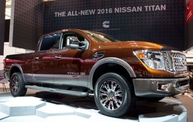 The next-generation Nissan TITAN XD made its national debut at the Canadian International Auto Show (CIAS) in Toronto. (CNW Group/Nissan Canada Inc.)