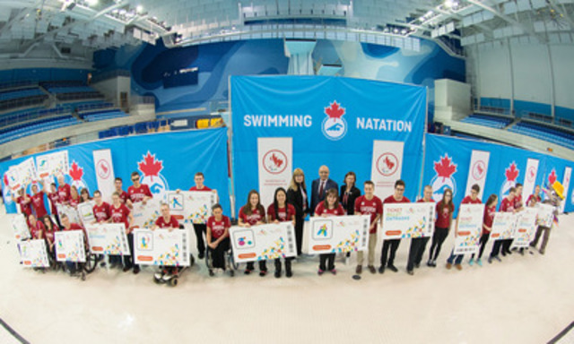 The first athletes have been nominated for selection to the Canadian Paralympic Committee for its Toronto 2015 Parapan Am Games Team. Chef de Mission Elisabeth Walker-Young announced this morning the names of 40 swimmers at a poolside ceremony at the Toronto Pan Am Sports Centre. (CNW Group/Canadian Paralympic Committee (CPC))