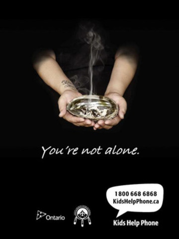 These are two of the nine posters that can be seen at www.kidshelpphone.ca/aboriginal (CNW Group/Kids Help Phone)