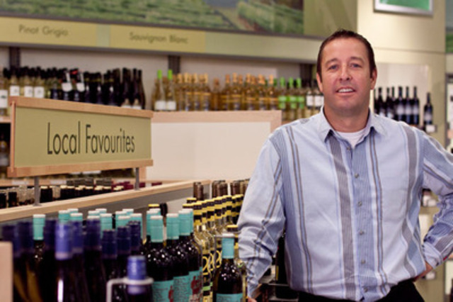 Ed Madronich, Chair, Wine Council of Ontario, highlights local favourites at the LCBO (CNW Group/LCBO)