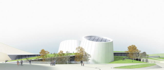 Le Planétarium Rio Tinto Alcan sera construit selon les plans et devis du consortium piloté par la firme montréalaise Cardin Ramirez Julien, choisie par le jury du concours international d'architecture lancé à cet effet, en 2009 (Groupe CNW/VILLE DE MONTREAL - CABINET DU MAIRE ET DU COMITE EXECUTIF)