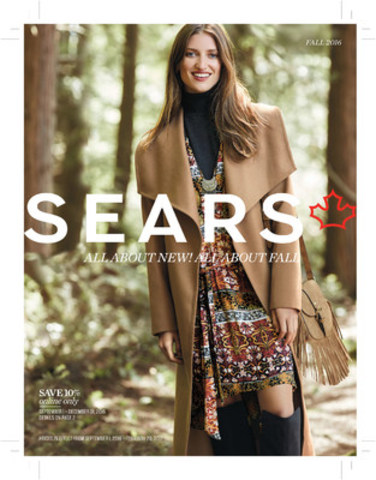Cover of the Fashion section of the 2016 Sears Canada Fall Catalogue (CNW Group/Sears Canada Inc.)