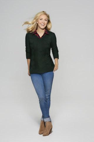 La collection à prix mini denims et tricots de Véro par Véronique Cloutier est disponible à compter du 29 septembre dans tous les magasins Aubainerie du Québec et en ligne sur aubainerie.com. Crédit photo : Pierre Manning (Groupe CNW/Aubainerie)