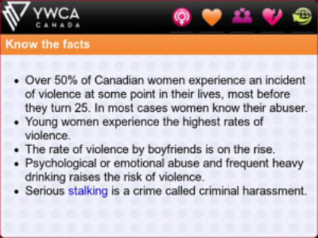 YWCA Safety Siren app for BlackBerry® - Know the Facts (CNW Group/YWCA Canada)