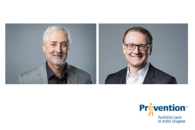 The Lucie and André Chagnon Foundation announces the appointments of Claude Chagnon to the position of Vice-Chairman of the Board and Chief Executive Officer and Jean-Marc Chouinard to the position of President (CNW Group/FONDATION LUCIE ET ANDRE CHAGNON)