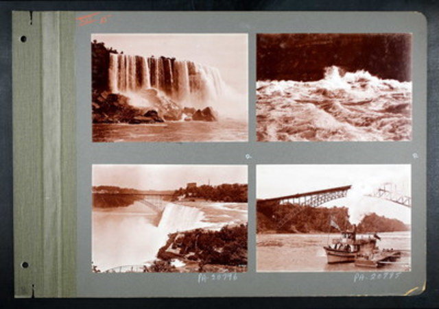Niagara Falls, including one of the first Maid of the Mist ships, between 1892 – 1917. This image is part of Ancestry's new collection entitled Canada, Photographic Albums of Settlement, 1892 – 1917 (CNW Group/Ancestry.ca)
