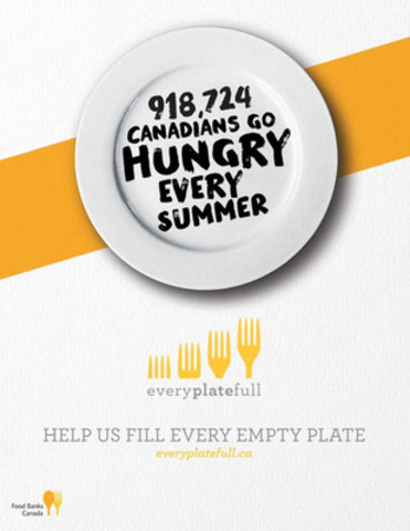 Every Plate Full: New national food and fundraising campaign (CNW Group/Food Banks Canada)