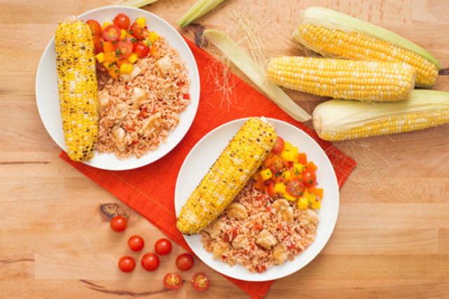Poulet à la poêle façon tacos avec riz brun à grains entiers - recette offerte par UNCLE BEN'S® (Groupe CNW/UNCLE BEN'S® Canada)