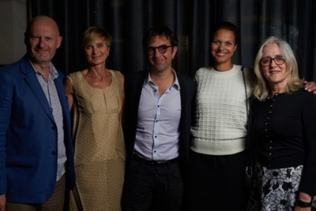 (L-R) Jean-Paul Salomé (President, UniFrance films); Sheila de La Varende (Director, International Promotion, Telefilm Canada); Atom Egoyan (director); Isabelle Giordano (Executive Director, UniFrance films); Carolle Brabant (Executive Director, Telefilm Canada) (CNW Group/Telefilm Canada)