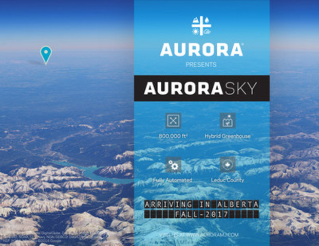 Aurora presents Aurora Sky (CNW Group/Aurora Cannabis Inc.)