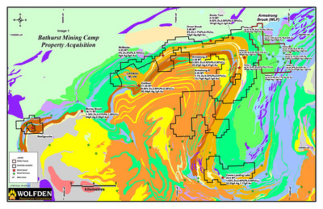 Bathurst Mining Camp Property Acquisition - Image 1 (CNW Group/Wolfden Resources Corporation)