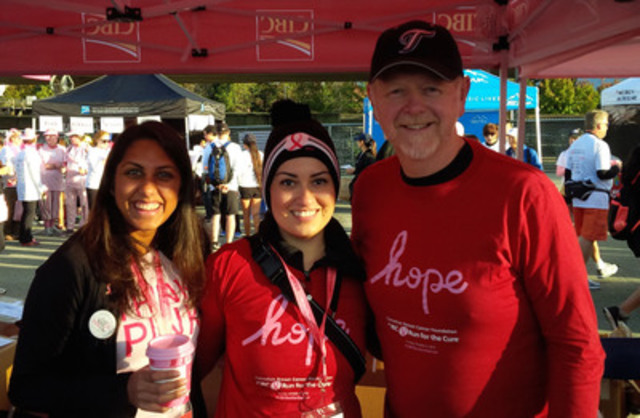CIBC's Attiya Hirji, Farnaz Farhani and Rod Fossen (from left to right). (CNW Group/Canadian Breast Cancer Foundation)