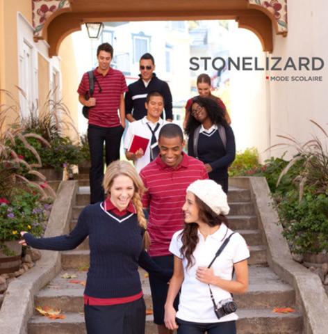 En plus de s'assurer d'avoir une collection vestimentaire fashion, les écoles sélectionnant Mode scolaire Stonelizard sont assurées que tous leurs élèves seront habillés à temps pour la rentrée scolaire, et que les parents apprécieront la durabilité et le prix accessible des vêtements. www.stonelizard.com (Groupe CNW/Stone Lizard Inc.)