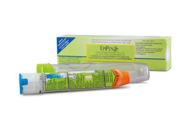 Auto-injecteur EpiPen(MD) Jr (épinéphrine) (Groupe CNW/Pfizer Canada Inc.)