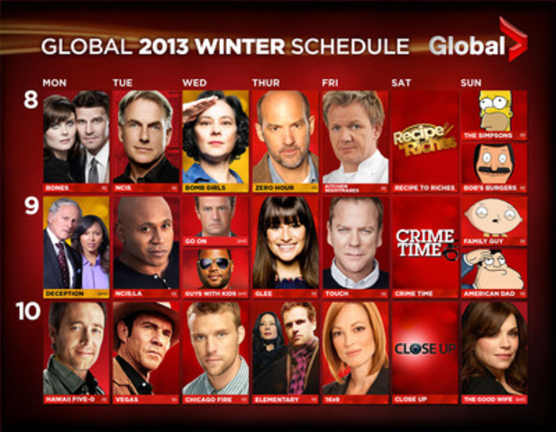 Global Winter Schedule (CNW Group/Global Television)