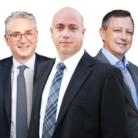 From left to right: Harry Blum, Board member and chair, National Member Firm Recruitment, Managing Partner, Toronto; Doug Kroetsch, Chair, Collins Barrow National, Partner, Collins Barrow Edmonton LLP; Rob Kolton, Board member and chair, National Marketing, Partner, Collins Barrow Red Deer LLP (CNW Group/Collins Barrow National Cooperative Incorporated)