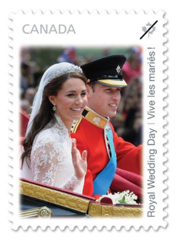 Postes Canada émet un troisième timbre commémorant le mariage royal. (Groupe CNW/Postes Canada)