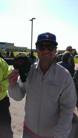 Darcy Tucker at the B.A.D Ride registration site (CNW Group/Distress Centres)