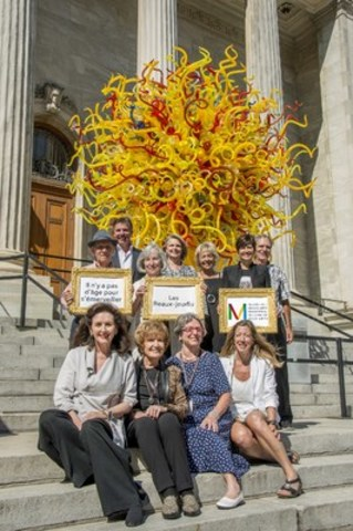 Reseau Selection and the Montreal Museum of Fine Arts are joining forces to provide free admission and a series of artistic and educational activities for seniors aged 65 and over. The weekly Thursday event, known as Les Beaux-Jeudis, starts on October 1 as part of Reseau Selection's healthyid program. Reseau Selection's residential complexes for retirees provide a stimulating environment where seniors can live better, longer. In the photo: Josee Duhaime, Head of the museum's Department of Education and Cultural Activities (front row, right), Danielle Champagne, Director of the Montreal Museum of Fine Arts Foundation (second row, right), and Real Bouclin, President of Reseau Selection (back row, left) with residents of Reseau Selection complexes with museum guides. www.reseau-selection.com/en/musee (CNW Group/Reseau Selection)