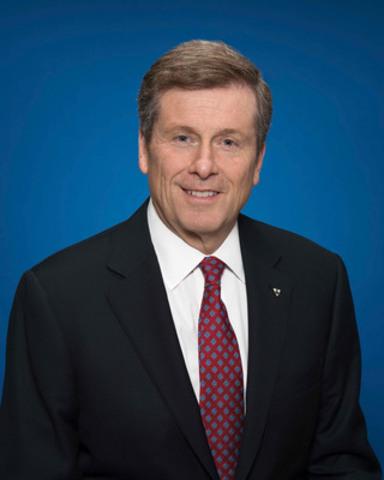 Le maire de Toronto, John Tory (Groupe CNW/Conseil canadien pour les partenariats public-privé)
