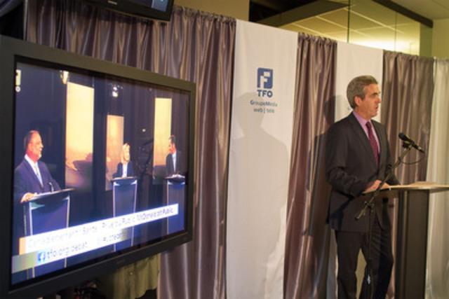 Glenn O'Farrell, président et chef de la direction durant le lancement de la saison d'automne dans les locaux du GroupeMédia TFO à Toronto, le 28 septembre 2011 (Groupe CNW/Office des télécommunications éducatives de langue française de l'Ontario (OTÉLFO))