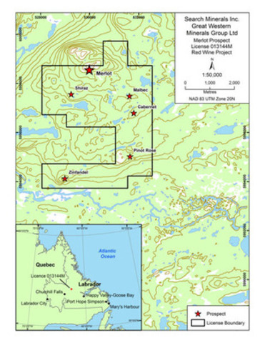 Figure 1 (CNW Group/Search Minerals Inc.)