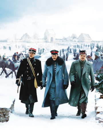 Joyeux Noel (Merry Christmas) - (Left to Right) Guillame Canet, Daniel Brühl and Alex Ferns. © CPT Holdings, Inc. All Rights Reserved. (CNW Group/TVO)