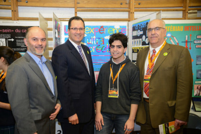 Left to right : M. Beaudoin Bergeron, Réseau CDLS-CLS board member, M. Ouali Fodil, conseiller – ...