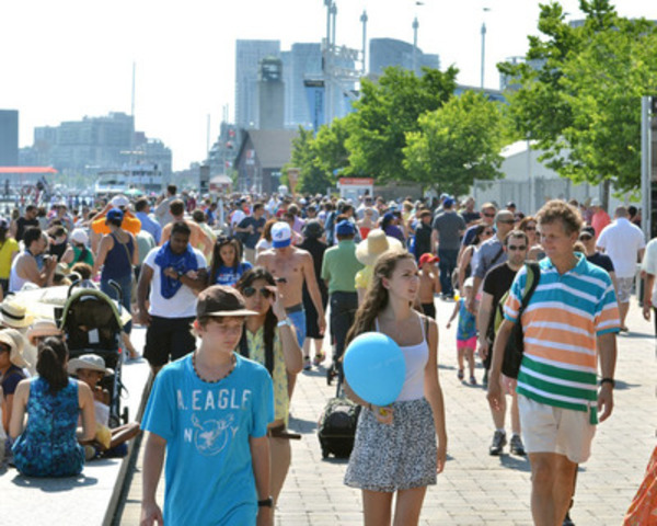 What better way to celebrate the start of summer than heading down to the waterfront for the Redpath Waterfront Festival's Party on the Promenade - June 19-21.  An entire weekend of fun for the whole family along the two kilometre length of the revitalized Queens Quay. Photo courtesy of Waterfront Toronto (CNW Group/Redpath Waterfront Festival)