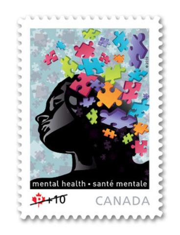 Aujourd'hui, Postes Canada a dévoilé le timbre sur la santé mentale de 2011, dont la conception a fait l'objet d'un vote du grand public, une première dans l'histoire de la Société. (Groupe CNW/Postes Canada)