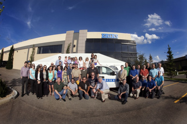 June 24, ERIKS celebrates the rollout of ERIKS name for its distribution channel in Canada at a company event at one of its largest facilities in Edmonton, Alberta. The 75-year-old international industrial service provider operates 65 companies with 450 branches in 27 countries. As the distribution face of Goodall in Canada, ERIKS brings world-class products, innovative systems and custom solutions fabricated for a wide range of industrial needs. (CNW Group/ERIKS)