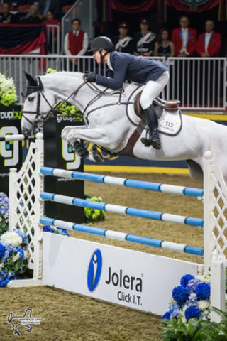 McLain Ward and Malou won the $35,000 Jolera International Jumper Welcome on Tuesday evening, November 8, at the CSI4*-W Royal Horse Show in Toronto, ON. Photo by Ben Radvanyi Photography (CNW Group/Royal Agricultural Winter Fair)