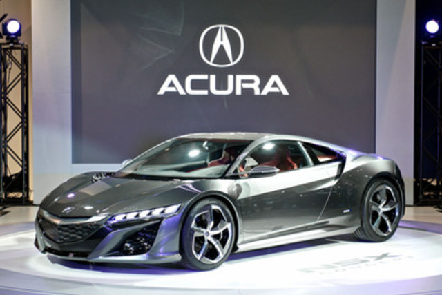 The highly anticipated Acura NSX concept was unveiled at the 2013 Canadian International Auto Show. (CNW Group/Acura Canada)