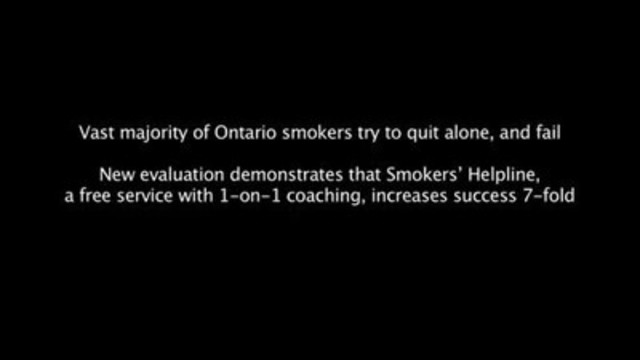 B-roll footage for Smokers' Helpline