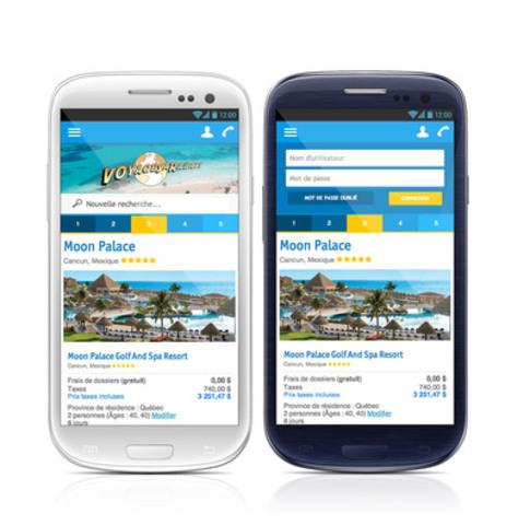 Voyagesarabais.com innove encore et passe en version mobile (Groupe CNW/Voyages À Rabais)