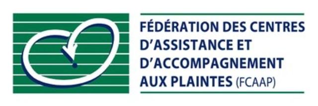 Logo : Fédération des centres d'assistance et d'accompagnement aux plaintes (FCAAP) (Groupe CNW/Fédération des centres d'assistance et d'accompagnement aux plaintes)