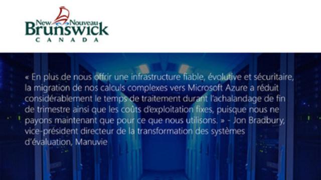 Manuvie (Groupe CNW/Microsoft Canada Inc.)