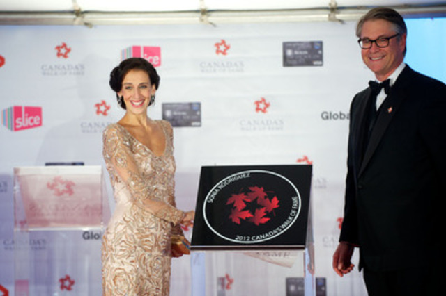 Sonia Rodriguez receives her Canada's Walk of Fame induction at the Ed Mirvish Theatre in Toronto on Saturday, September 22, 2012. (CNW Group/Canada's Walk of Fame)