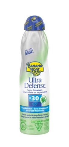 Banana Boat Ultra Defense SPF 30 Spray Sunscreen, 180ml (79656 00837 1) (CNW Group/Energizer Canada)