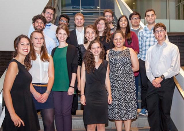 Les lauréats 2016 des Bourses Persévérance de l'IRIC (Groupe CNW/Institut de recherche en immunologie et en cancérologie de l'Université de Montréal)