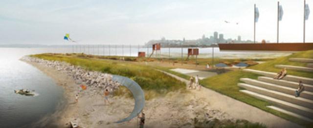 Perspective du littoral est (Groupe CNW/Commission de la capitale nationale du Québec (CCNQ))