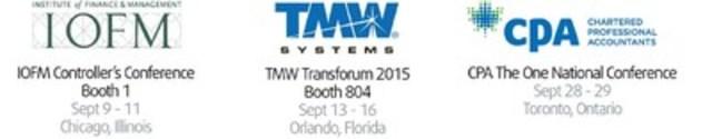 IOFM Controller's Conference: Sept 9-11, Chicago, Illinois; TMW Transforum 2015: Sept 13-16, Orlando, Florida; CPA The One National Conference: Sept 28-29, Toronto, Ontario (CNW Group/VersaPay Corporation)
