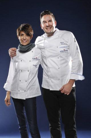 S.Pellegrino Young Chef 2016 Winner Mitch Lienhard with Mentor Chef Dominique Crenn (CNW Group/S. Pellegrino)