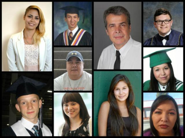 Les gagnants du Programme de bourses d'études pour les Autochtones 2014 (Groupe CNW/RBC (French))